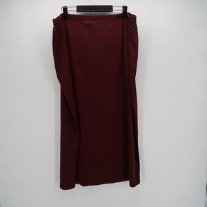 Avenue Elastic Waist Stretch Pull On Maxi Skirt